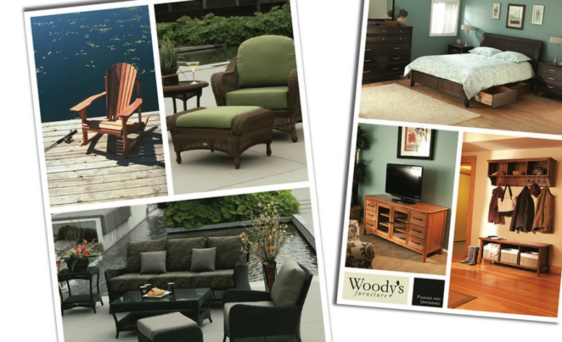 asid design directions summer woodys finished and unfinished furniture store signage and posters
